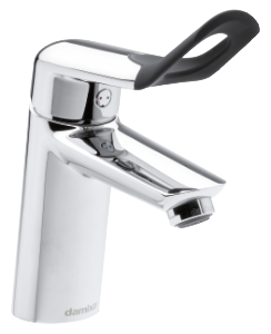 Clover Easy Tvättställsblandare med Pop-up bottenventil (Krom/Svart)