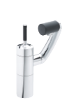 Damixa Arc two grip bidet mixer with pop up waste in chrome/black