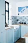 Danish designed 1-handle Tradition kitchen tap.