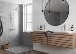 Messing brusesystem og håndvaskarmatur fra Damixa Silhouet serien