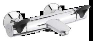 Clover Easy Thermixa 300 Thermostatic Bath/Shower Mixer  (Chrome/Black)