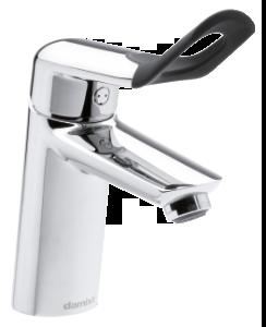 Clover Easy Håndvaskarmatur med care-greb og bundventil (Krom/Sort)