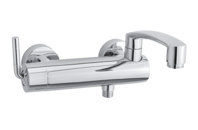 Damixa Arc bath shower mixer in chrome