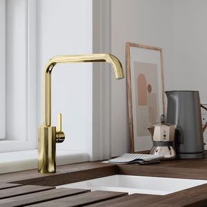 Silhouet Kitchen Mixer with Dishwasher Shut off valve (Polished Brass PVD)