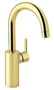 Silhouet Håndvaskarmatur med høj tud (Poleret messing PVD)