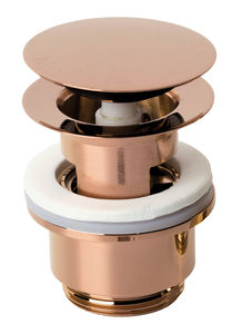 Bathroom Accessories Pop Up Waste with click-function (Polished Copper PVD)