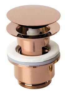 Badeværelsestilbehør Komplet bundventil med klikfunktion (Poleret kobber PVD)