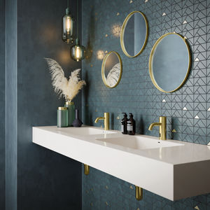 Silhouet Touchless basin public (Brushed Brass PVD)
