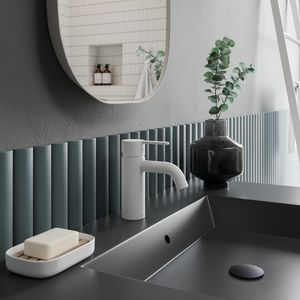 Silhouet Waschtischarmatur - Small (Matte weiß)