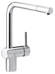 This Osier is a one-grip kitchen mixer in chrome by Damixa