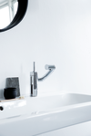 Picture of Arc basin/bidet mixer with a 360-degree handle.