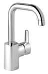 Pine basin mixer in chrome